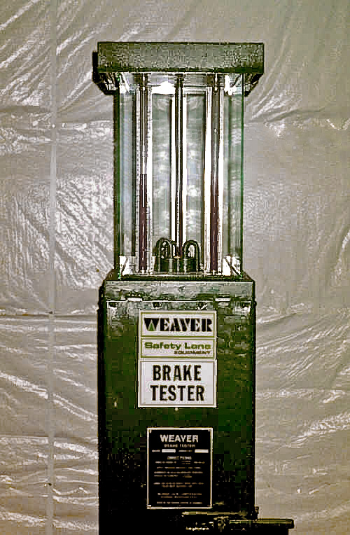 Weaver Brake Tester Tower